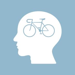 bicycle brain think man head